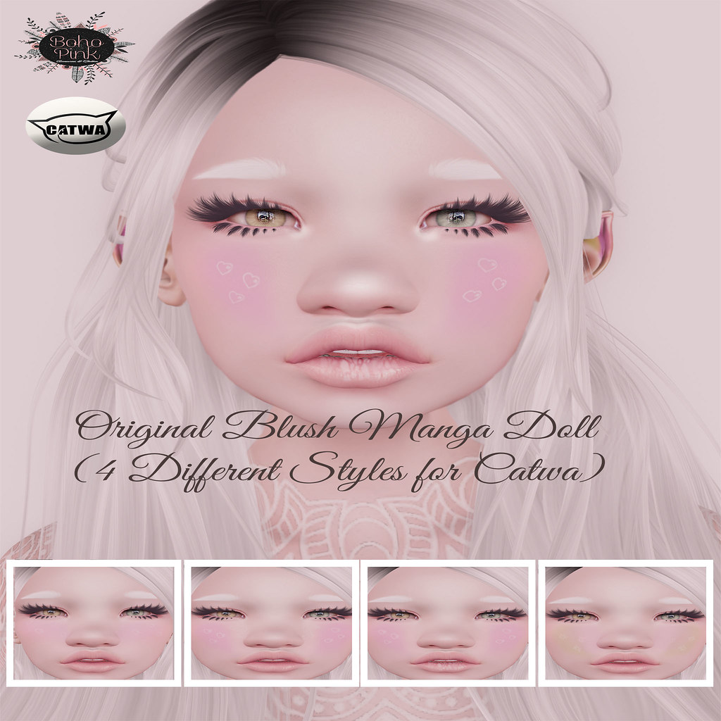 Boho Pink Blush Manga Doll NEW!!!