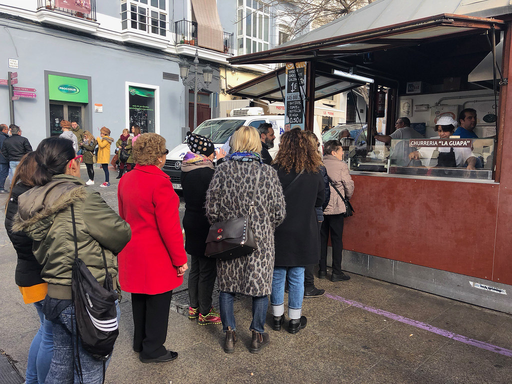 Massive queues for churros