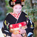Maiko Mizuno (Fukushima Okiya) of Gion Kobu on the day of her Misedashi