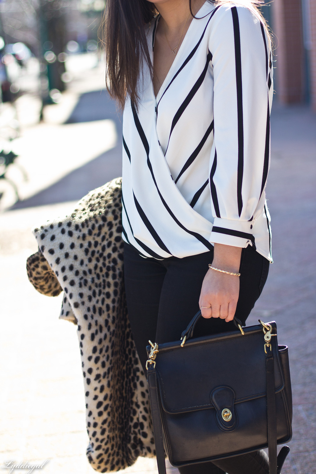 striped wrap top, black jeans, coach bag, leopard fur coat-23.jpg