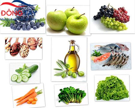 Người bệnh tiểu đường nên ăn nhiều rau xanh, trái cây tươi và cá