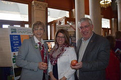 Reps. Zawistowski and Storms with Jaime Smith from the Department of Agriculture