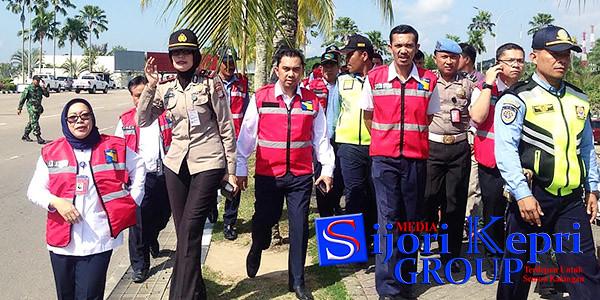 Para Petugas dari BP Batam bersama dengan perwakilan dari TNI AU, Polri, Avsec, serta Ditpam BP Batam