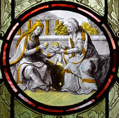 Holy Kinship: Blessed Virgin and St Anne with the infant Christ (17th Century)