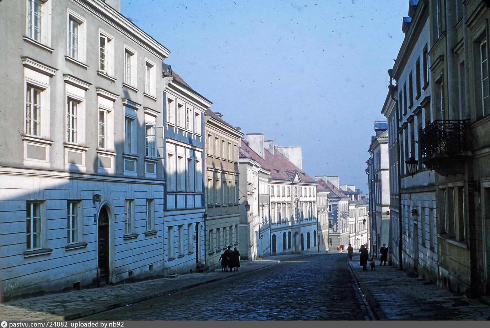 1959 год. Варшава. Новый город. ул. Мостовая (Mostowa)