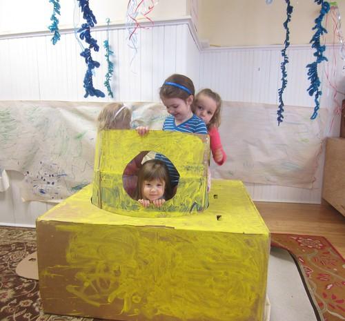 girls in a yellow submarine