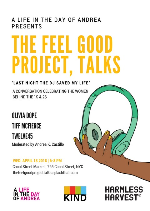 The Feel Good Project, Talks