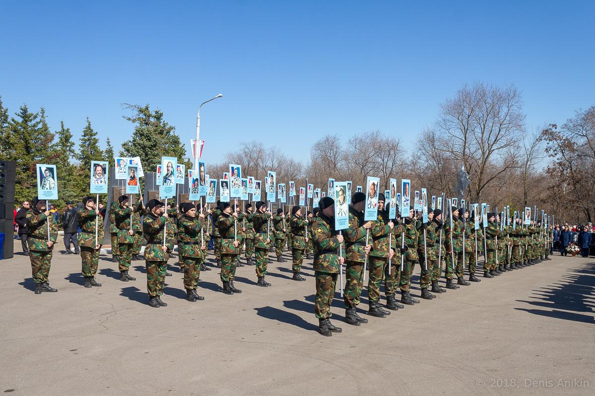 Космический полк на месте приземления Гагарина