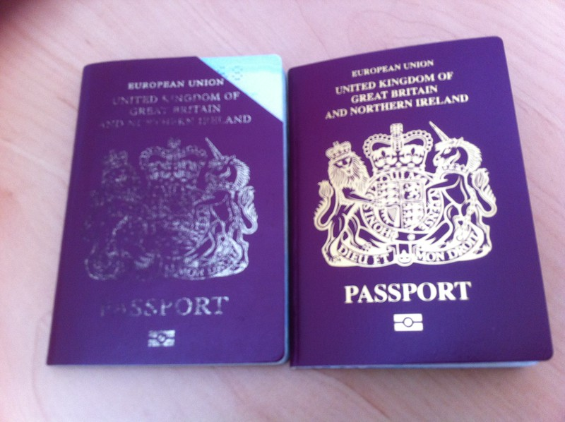 Passports, old and new