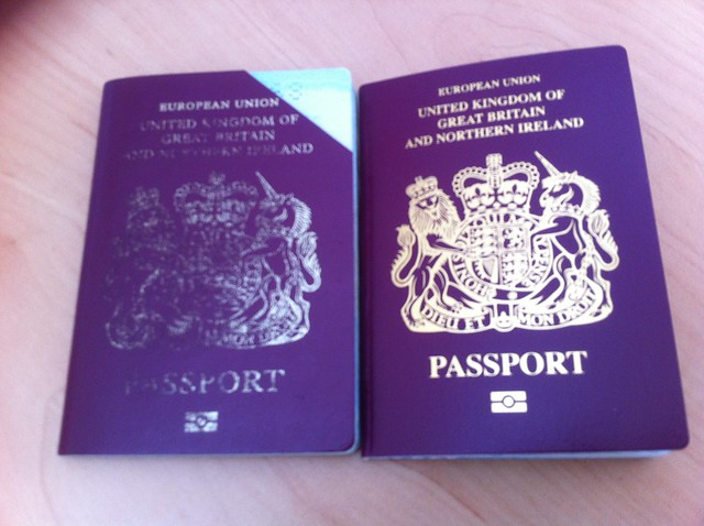 Passport, old and new