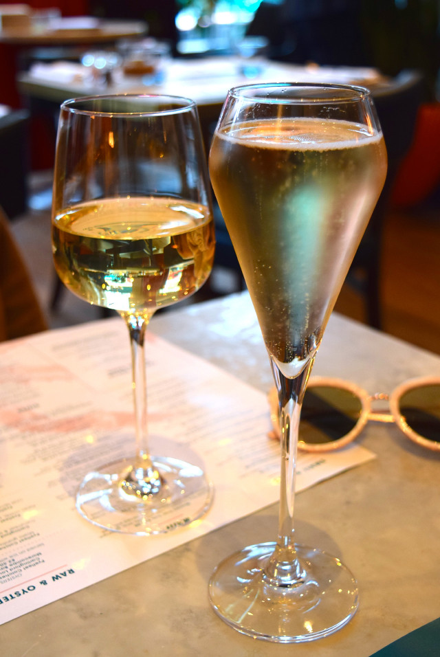 Cremant and White Wine at Fancy Crab, Marylebone