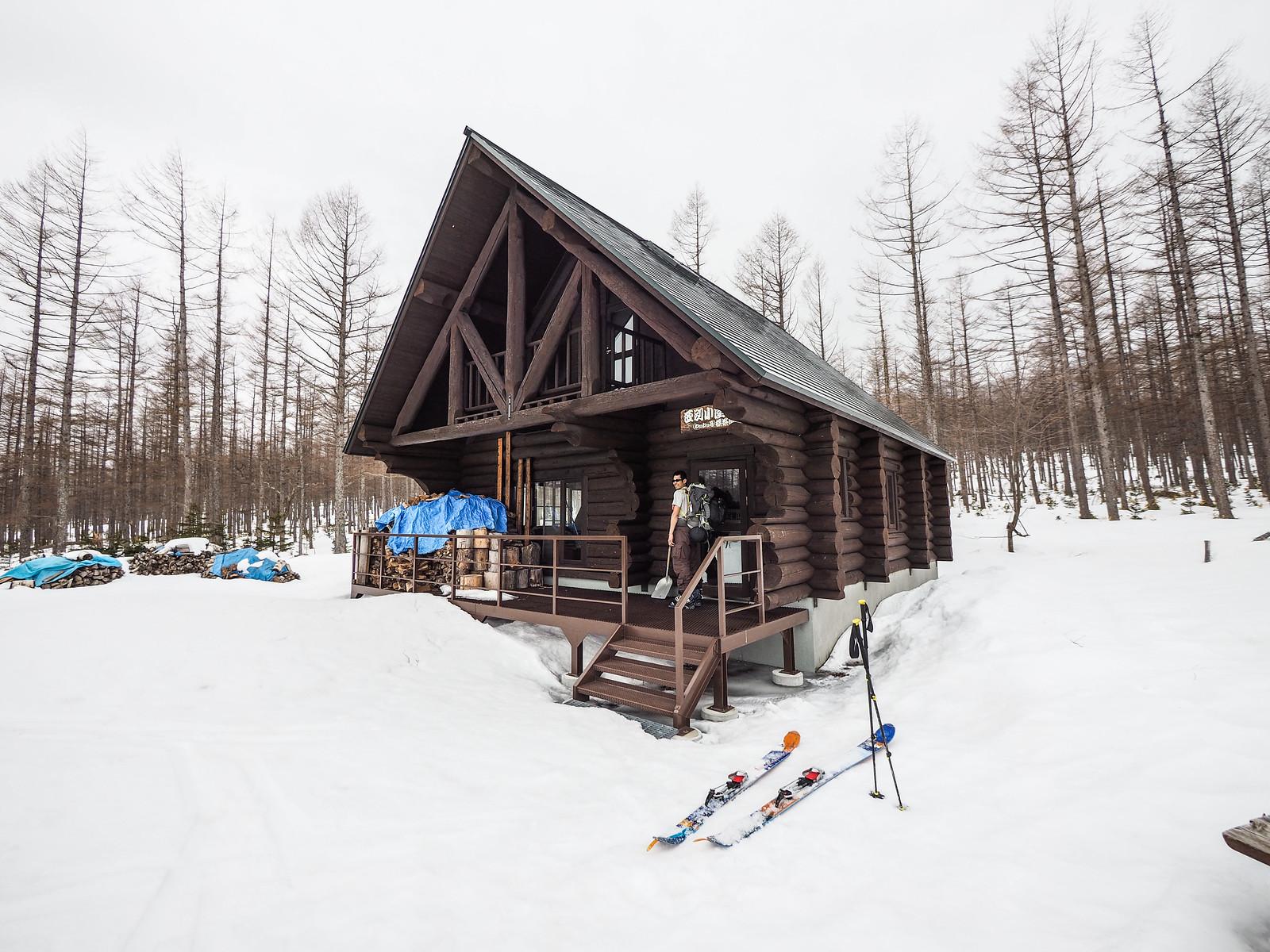 Mt. Nishibetsu Hut ski touring (Eastern Hokkaido, Japan)