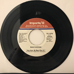 MAN PARRISH:HIP HOP BE BOP(DON'T STOP)(RECORD SIDE-B)
