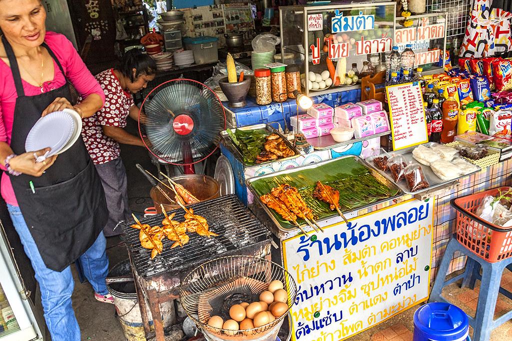 Food stand just outside Namtok Phlio National Park--Chanthaburi