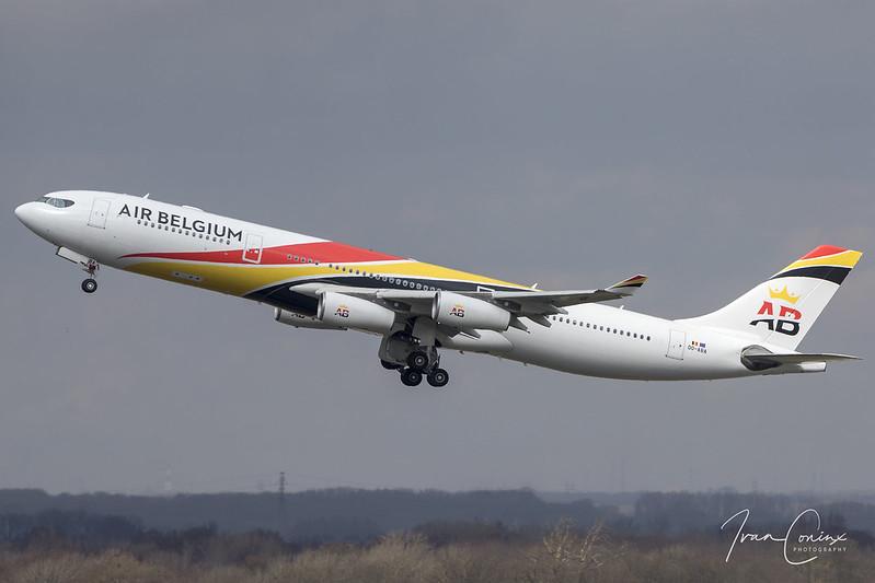 Airbus A340-313 – Air Belgium – OO-ABA – Brussels Airport (BRU EBBR) – 2018 03 29 – Takeoff RWY 25R – 01 – Copyright © 2018 Ivan Coninx