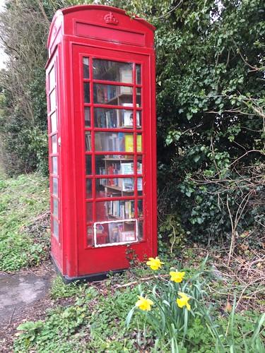 Washbrook telephone box book exchange