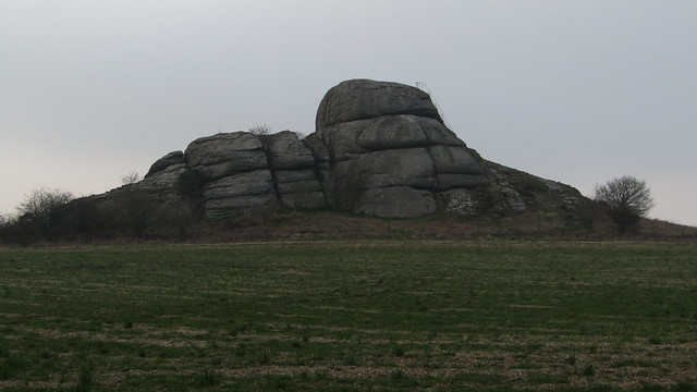 Blackingstone Rock from the road to the south