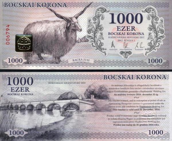 HAJDÚNÁNÁS (Maďarsko) 1000 Bocskai Korona 2012