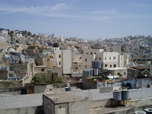 israeli settlement in the middle of hebron, palestine
