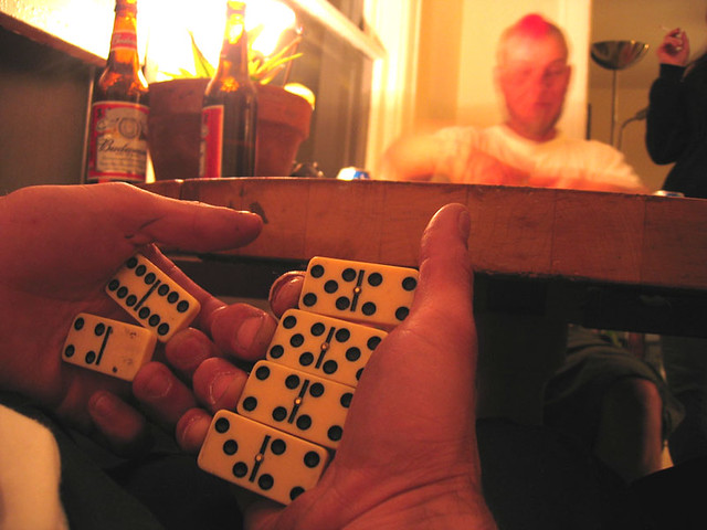 dominoes and bud