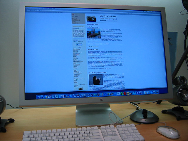 my website on a 30-inch Cinema HD in 2005