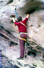 free solo climbing(0.0), abseiling(0.0), adventure(1.0), individual sports(1.0), sports(1.0), recreation(1.0), outdoor recreation(1.0), rock climbing(1.0), sport climbing(1.0), extreme sport(1.0), climbing(1.0),