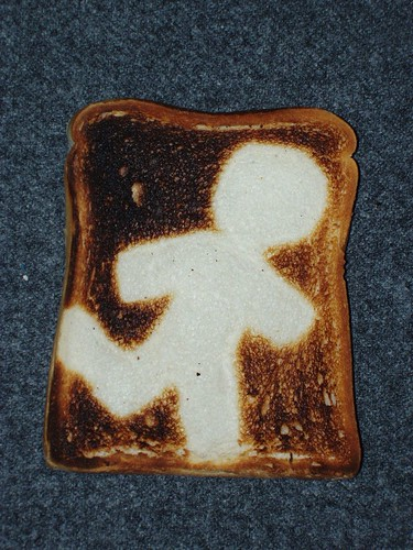 Toast art - running man - the successful one