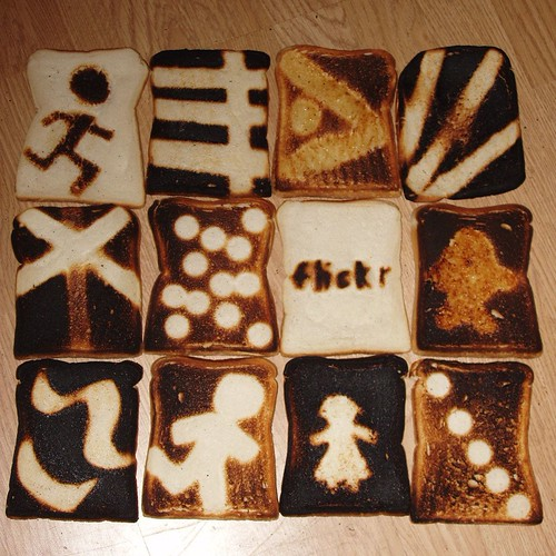 Toast art mosaic