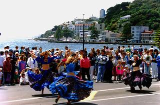 Street carnival, Oriental Bay, Wellington 1995