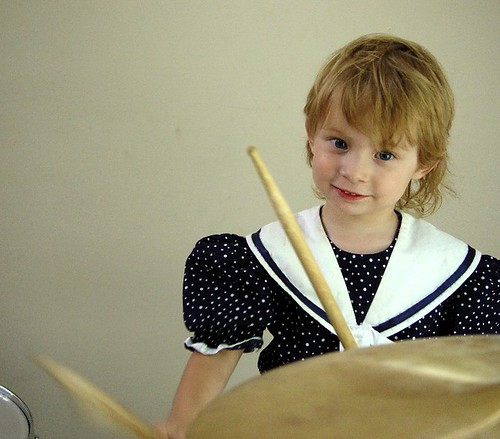 michele - portrait of a future drummer