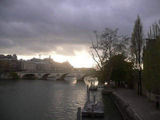 A view of the river Seine