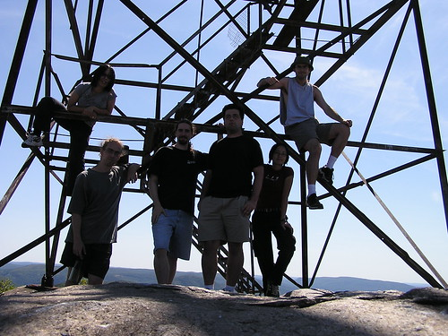 Group shot at the watch tower