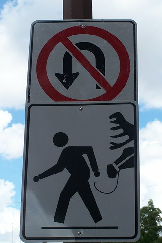 No U-Turns while Walking your Moose