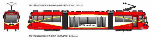 DC Streetcar vehicle proposed paint scheme