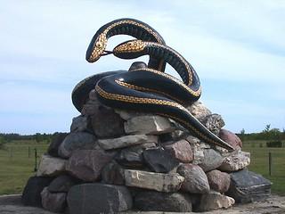Inwood garter snake statue