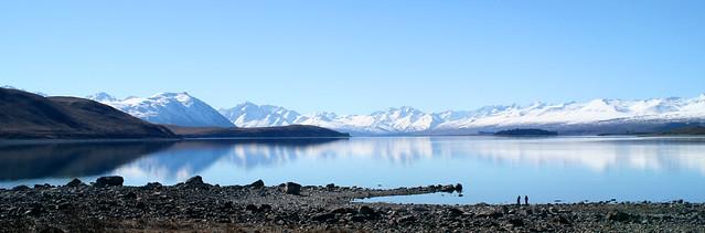 Lake Tekapo in the morning Panorama