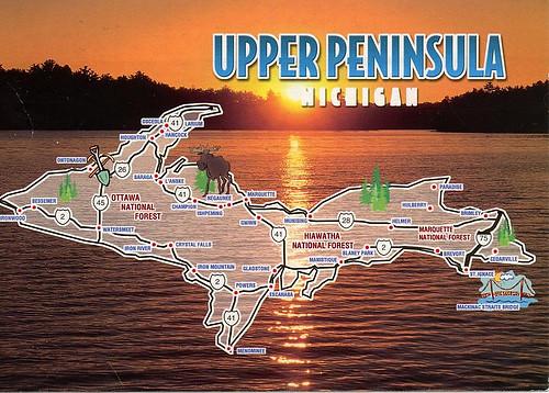 Upper Pennisula Michigan Map.Upper Peninsula Michigan Map Morgaine S Maps Flickr