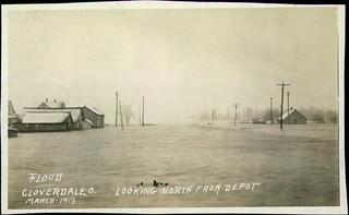 1913 Flood Cloverdale Ohio