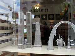 inexplicably fascinating wire models of landmark buildings