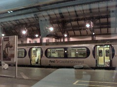 First Capital Connect train waiting in Brighton Railway Station
