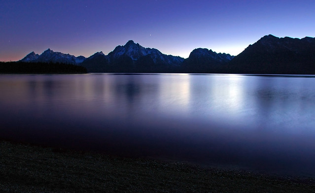 Last Twilight Jackson Lake, Grand Teton National Park, Wyoming