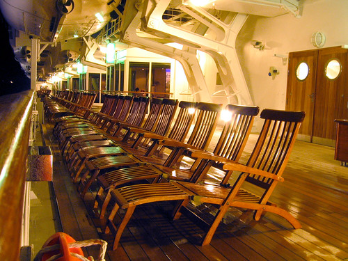 deck chairs on promenade deck