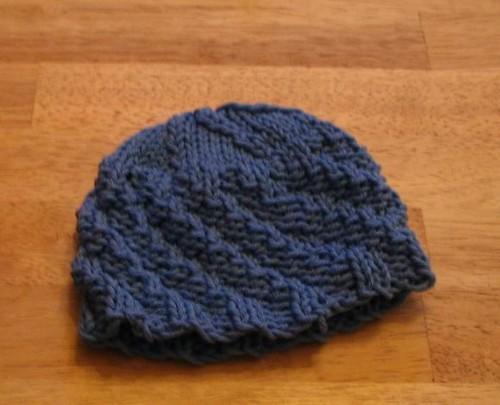 Spiral Rib Baby Hat