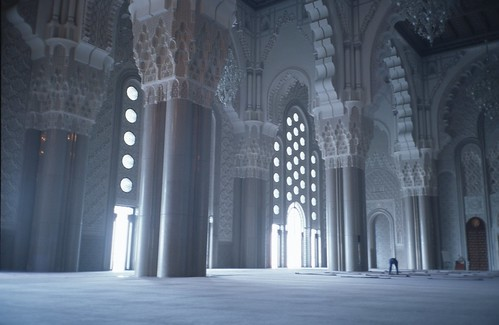inside the Mosque of Hassan II, 1 of 3