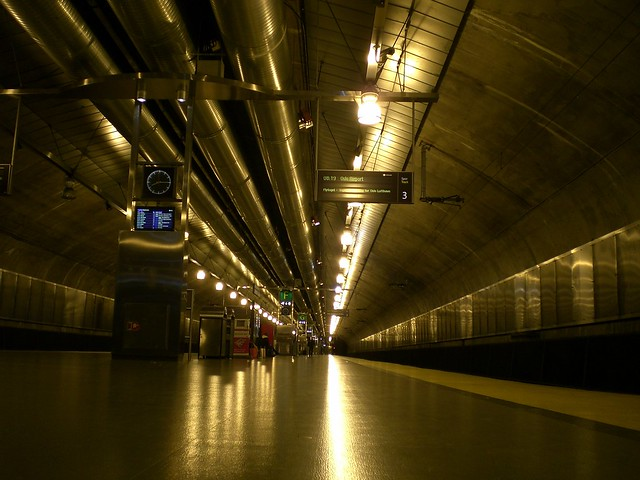 Waiting for the airport train, Oslo