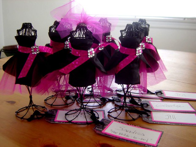 Favors for bachelorette party made for 8 wire dress for Bachelorette decoration ideas