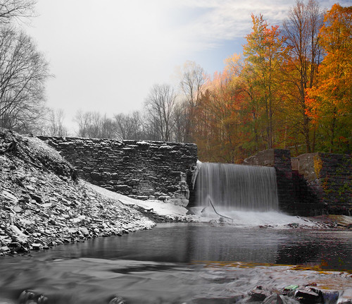 winter bw lake snow color fall wall creek photoshop waterfall rocks stream falls imagemanipulation vanauken