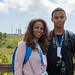 Leoul Mesfin, DStv Eutelsat Star Awards winner 2016 and his mother Helen Masresha at the at the Kourou Space Centre, French Guiana (Tangara site)