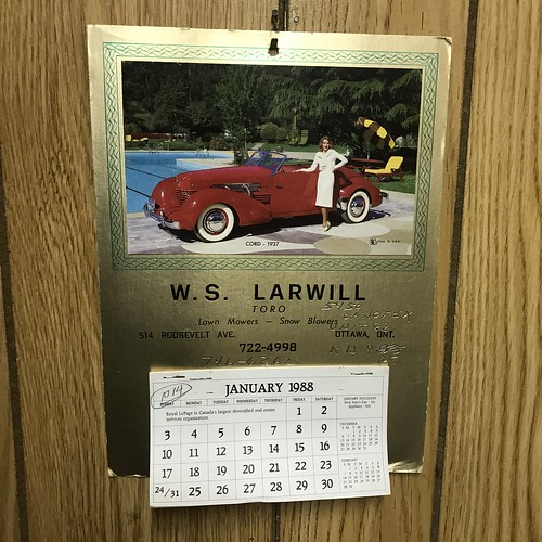 The Estate Sale: wall calendar and a step back in time