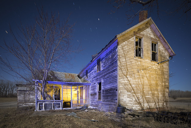 Abandoned Home Blue-Yellow